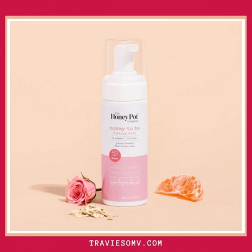 MOMMY TO BE FOAMING WASH, 163 ML -THE HONEY POT COMPANY