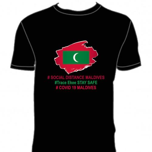 Covid T. Shirt # 136 Black 100% Cotton T Shirt