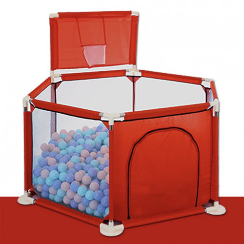 Red Playpen with 50pcs of balls