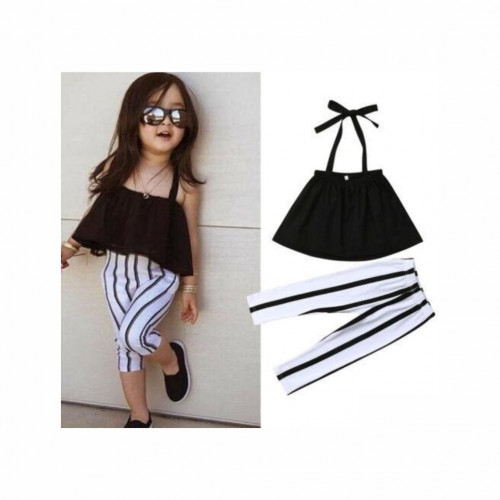 Girls Outfits Clothes Casual Crop Tops + Pants Leggings Set
