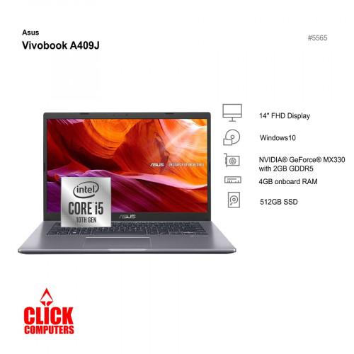 "ASUS A409J-PEK065TS Laptop (I5-1035 G1 3.60GHZ,512GB,4GB,MX330 2GB,14"")"