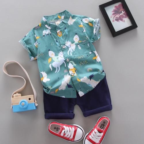Boys Knight Shirt Two-Piece Set