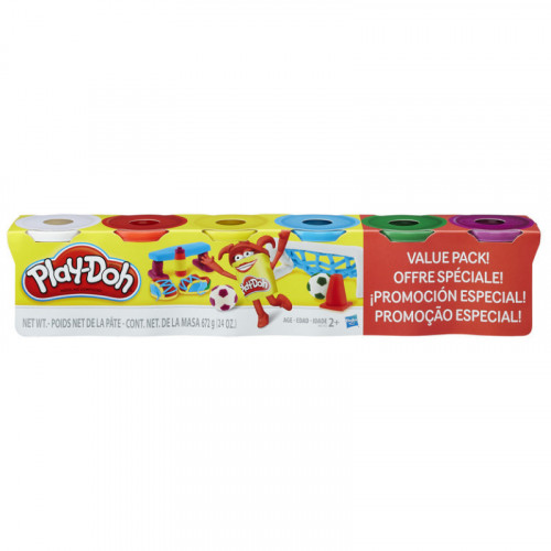 Play Doh 4+2 Primary Colors Value Pack
