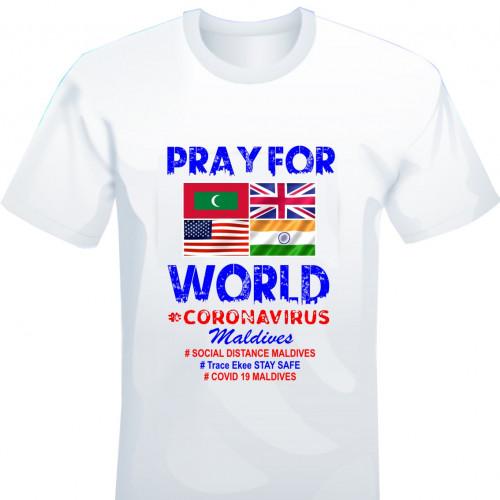 Covid T. Shirt # 111 White 100% Cotton T Shirt