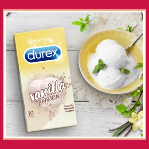 Durex Vanilla Popsicle flavored condoms - 10 Pcs