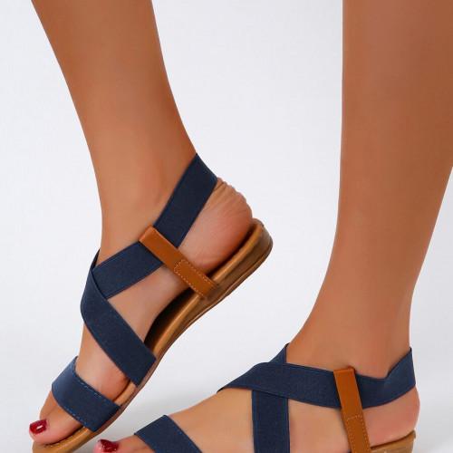Minimalist Cross Strap Sandals