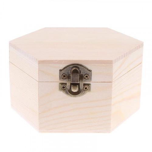Natural Unfinished Wooden Keepsakes Storage Box DIY Base Wedding Christmas Gift For Kids Children Painting Crafts