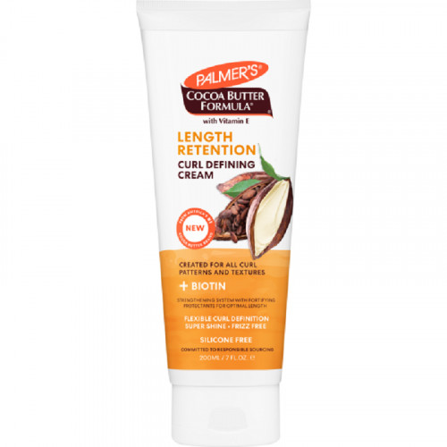 Palmers Cocoa Butter + Biotin Length Retention Curl Defining Cream 200ml
