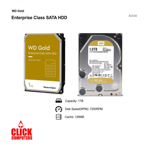 Western Digital WD Gold Enterprise Class Internal Hard Drive (1TB / 7200 RPM)