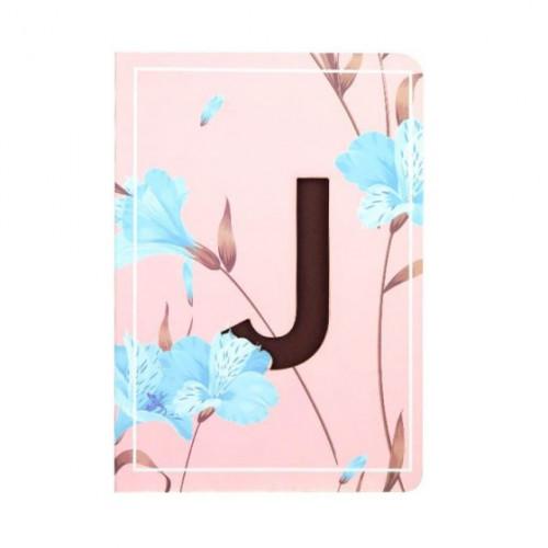 Letter J Initial Floral Monogram Notebook