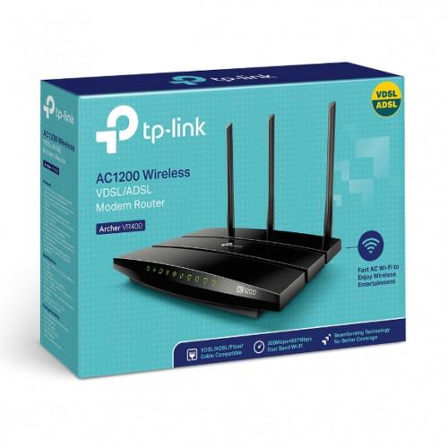 TP-LINK Archer VR400 AC1200 VDSL-ADSL Modem Router