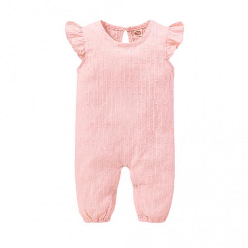 Baby Girl Romper Stripe Rufflr Fly Sleeve Romper