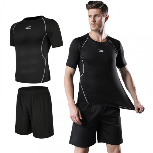 Men's Body Fit Fitness T-Shirt (Black)