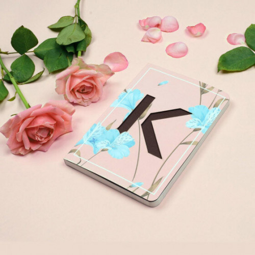 Letter K Initial Floral Monogram Notebook