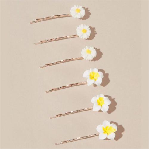 6pcs Daisy Decor hair Pin