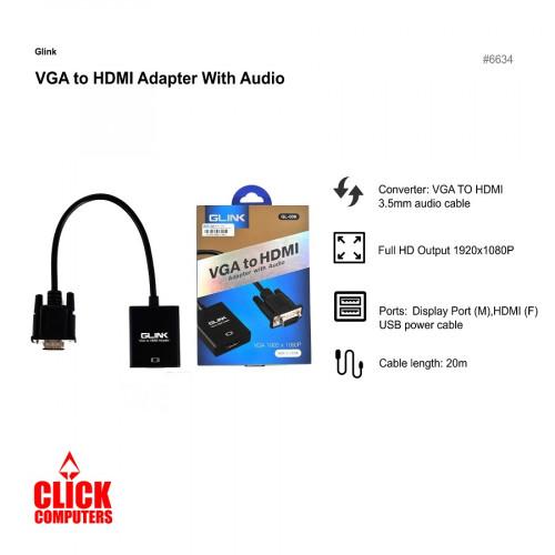Glink VGA to HDMi Converter With Au dio GL-009