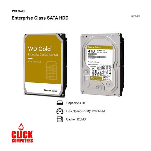 "WD Gold Enterprise Class Hard Disk Drive - (4TB/7200RPM Class SATA 6 3.5"")"