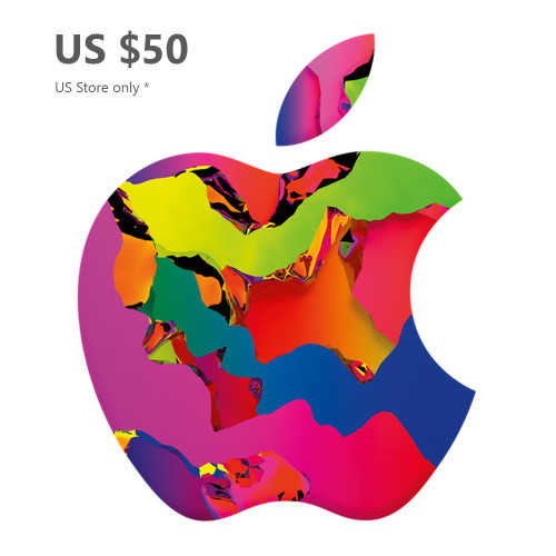 Apple Gift Card US 50 - App Store, iTunes, iPhone, iPad, AirPods, MacBook, accessories and more (Email Delivery)
