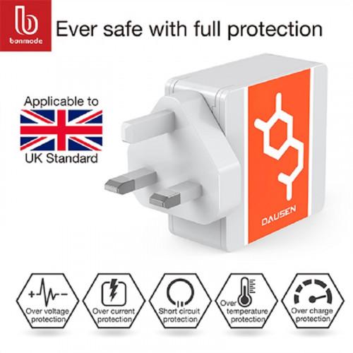 DAUSEN Dual Port Wall Charger-UK plug