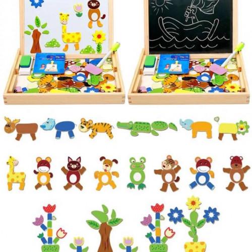 Educational wooden learning board