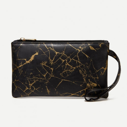Marble Pattern Clutch Bag