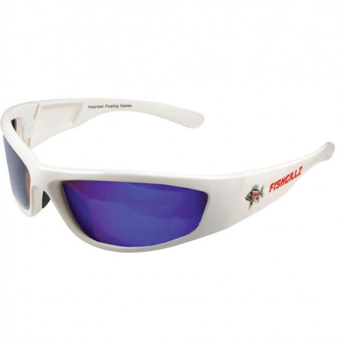 Malibu White Frame / Blue Revo Lens