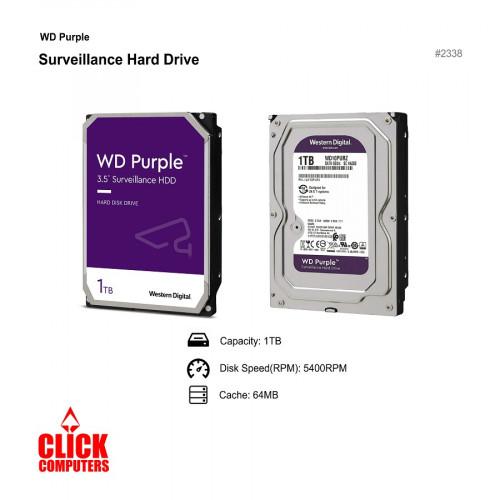 Western Digital (1T B 5400RPM SATA 6.0 Gbps 3.5 64MB Cache) Purple Hard Drive