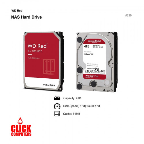 "Western Digital (4TB) 3.5"" W D Red NAS Hard Drive"