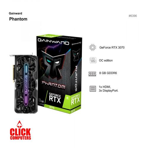 Gainward RTX3070 Phantom 8GB GDDR6  Graphic Card