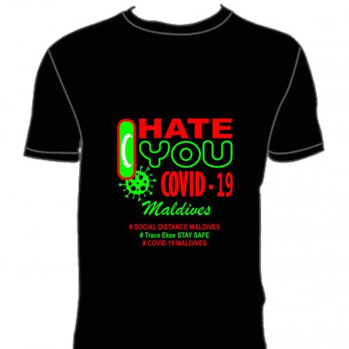 Covid T. Shirt # 112 Black 100% Cotton T Shirt