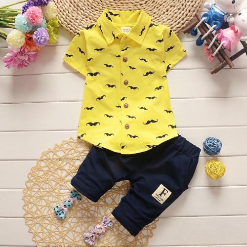 2Pcs/Set Baby Boy Shirt + Shorts Pants