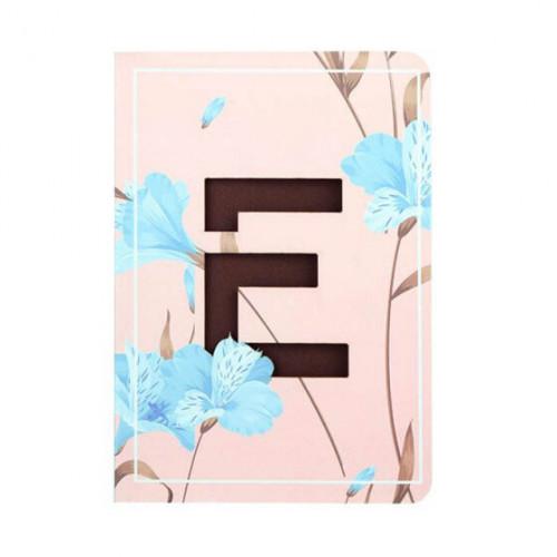 Letter E Floral Monogram Notebook