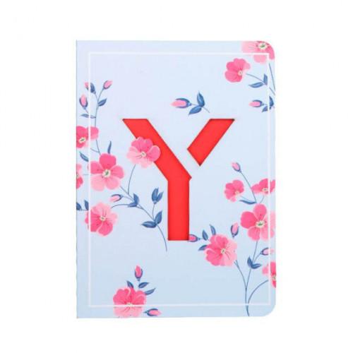Letter Y Initial Floral Monogram Notebook