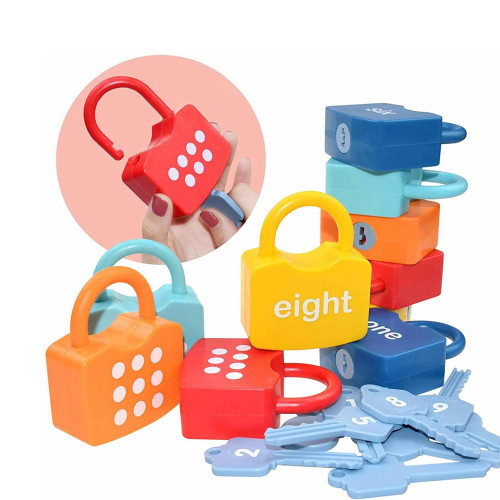 Montessori Number Pairing Locks
