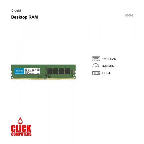 Crucial 16GB DDR4 3200MHz Desktop R AM