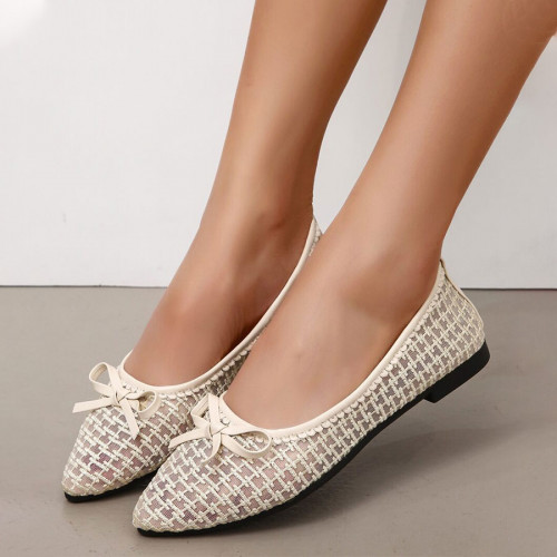 Bow Decor Mesh Flat shoes