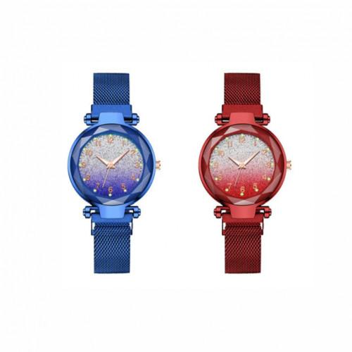Women Magnet Buckle Luxury Stainless Steel Watch