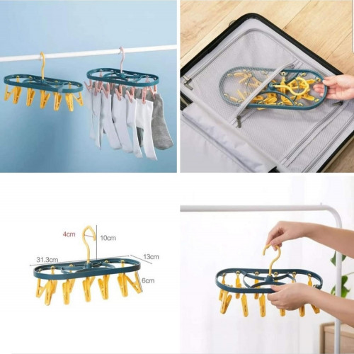 12 clips Hanging Dryer