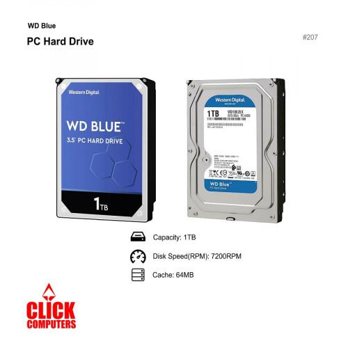 "WD Blue (1TB 7200 RPM, SATA 6 Gb/ s, , 64 MB Cache, 3.5"")"