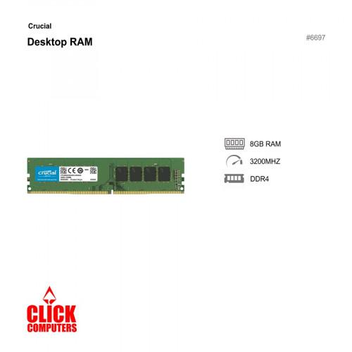 Crucial 8GB DDR4 3200MHz Desktop RAM