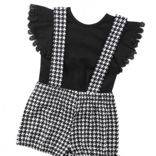Baby Girls Sleeveless Top & Bib Pants