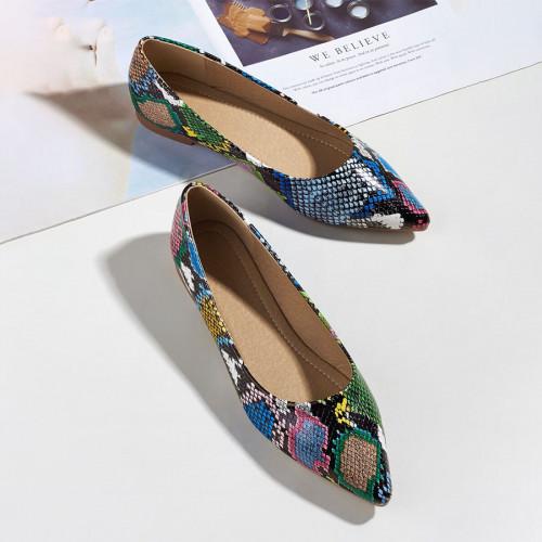 Snakeskin Print Flat shoes