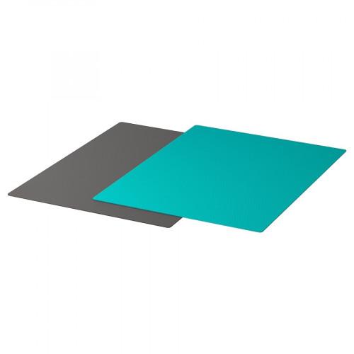 FINFÖRDELA Bendable chopping board, dark grey/dark turquoise, Set of 2pcs