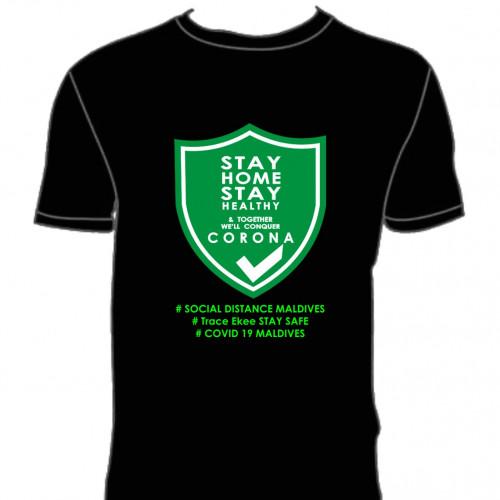 Covid T. Shirt # 120 Black 100% Cotton T Shirt