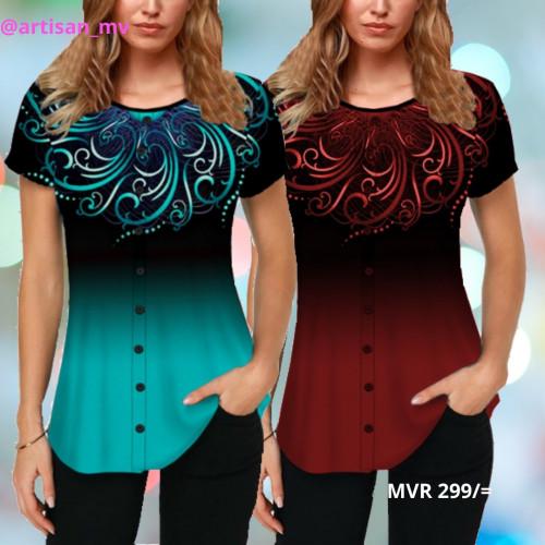 Women's Fashion Short Sleeve Round Neck blouse T_shirt