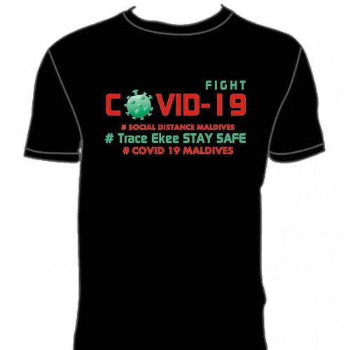 Covid T. Shirt # 126 Black 100% Cotton T Shirt