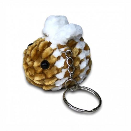 Crocheted bee keychain