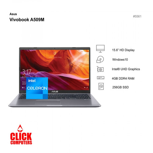 "ASUS VIVOBOOK A509M-ABR425T (4GB DDR4 RAM,256GBSSD,15.6"" HD)"