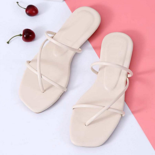 EMERY ROSE Cross Strap Toe Post Slippers