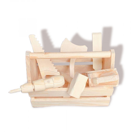 Carpenter tool set for kids with box